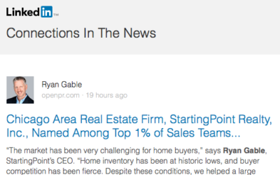 StartingPoint Realty, Inc.,  Named Among Top 1% of Sales Teams Nationwide